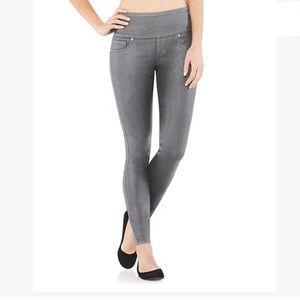 Spanx Wax Denim Leggings Pewter Size XL NWT